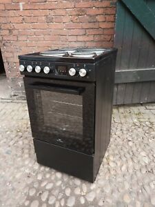 B GRADE REFURB BLACK NEW WORLD 50cm SINGLE ELECTRIC COOKER OVEN - UK DELIVERY