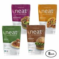 Neat Vegan Variety Mix (5.5 oz.) - Meat Alternative 4 or 8 Pack