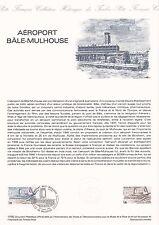 Document Philatélique Timbre 1er Jour : 13/03/ 1982 - Aéroport Bâle-Mulhouse