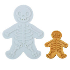 Skull Gingerbread Man Cookie Biscuit Cutter Mold Cake Pastry Fondant Cake MoY*QE