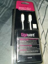 New Gigaware Gold Plated 6 ft 4 Pin to 4 Pin Firewire Cable P/N 1500005 😁