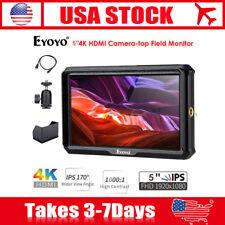 Eyoyo A5 HDMI 4K HD Video Field Monitor 1920x1080 IPS For Zhiyun Canon 5D Nikon