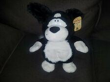 Korimco black and white dog plush