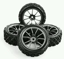 X4 RC Car 1/10 wheel + tyre set 1/10 Off Road rally for e.g Tamiya