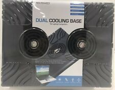 MERKURY DUAL COOLING BASE FOR YOUR LAPTOP COMPUTER OR NETBOOK LIGHTWEIGHT DESIGN