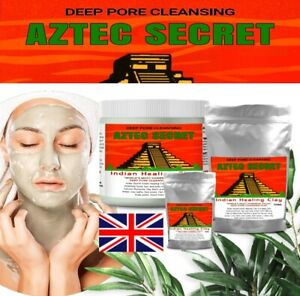 Aztec Secret INDIAN HEALING CLAY 100% Natural calcium bentonite Face Mask 50g
