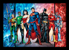 DC Comics Justice League United - Framed 30 x 40 Official Print