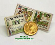 1102# Miniatur Kinderbuch - Schneewittchen - Puppenhaus - Puppenstube - M 1zu12