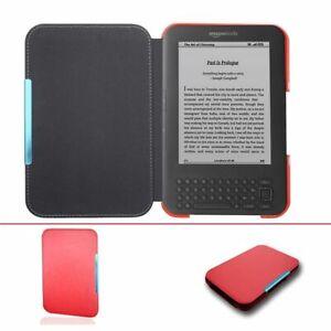 Slim Leather Cover Case For Capa Amazon Kindle 3 3rd Gen Keyboard eReader Folio