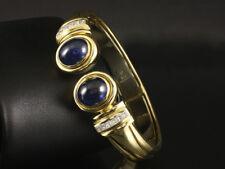 Kostbare Saphir Diamant Armspange Armreif  79,7g 750/- Gelbgold