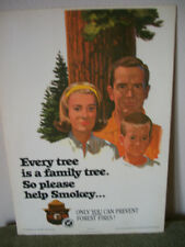 "1965 SMOKEY BEAR ""Family"" fire poster by USFS / California Division of Forestry"