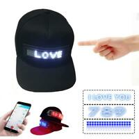 Hip-hop Flash Cap Cool LED Display Screen Hat Lighted Glow Club Party Baseball