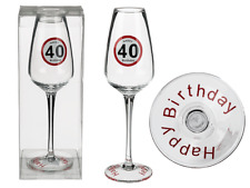 Sektglas 40 Happy Birthday Geburtstag