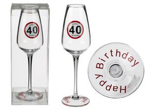 Sektglas 40 Happy Birthday Geburtstag