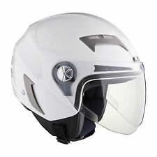 CASCO JET LS2 STROKE II OF547 GLOSS WHITE TG XL DOPPIA VISIERA
