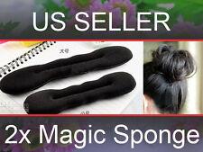 2pc Foam Sponge Magic Bun Hair Styling Sponge Roll Twist Maker Former