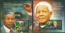 NIGER NELSON MANDELA IN MEMORIAM AND TRIBUTE SOUVENIR SHEET SET OF TWO IMPERF