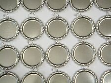 100 Flat Bottle Caps with 8mm Split Rings