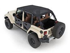 Smittybilt 94600 Black Extended Mesh Bikini Top for Jeep Wrangler JK 4-Door