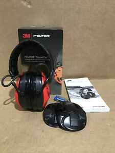 3M Peltor MT16H210F-478-RD SportTac Red & Black Active Protection for Shooting