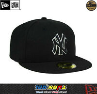 NEWERA New York YANKEES GAME 59FIFTY Fitted Caps MLB Field Hats NAVY BLACK WHITE