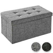 Tabouret pliant cube pouf dé pliable coffre siège de rangement boîte 76x38x38cm