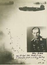More details for ww2 luftwaffe ace oskar romm kc signed & inscribed photo