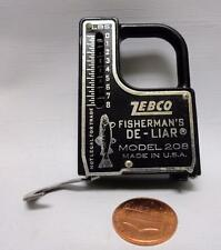 Vintage Zebco Fisherman's De-Liar Model 208 Scale & Measuring Tape