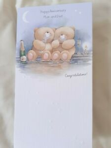 Hallmark Mum and Dad Mother Father Parents Anniversay Card 12 cm x 23 cm