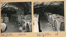 NOISAY - 2 Photos Tonneaux Cave à Vin Indre et Loire - Pl 634