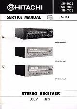 service Manuel d'instructions pour Hitachi sr-903,sr-803,sr-703