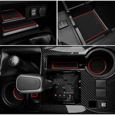 Cup, Door, Console Liner Accessories Kit For 2010-2019 Toyota 4Runner [Red Trim]