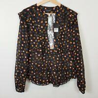 MAISON SCOTCH | Womens Blouse Top w/necklace NEW [ Size M or AU 12 / US 8  ]