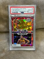 KOBE BRYANT⚡️2018 Contenders Optic Hall of Fame Red Cracked Ice PSA 10 GEM MINT