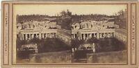 Pompei Italia Foto Rive Stereo Vintage Albumina Ca 1865