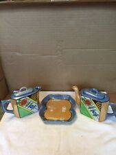 Vintage Lusterware Teapot And Creamer With Lids And Tray