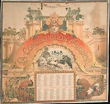 """TOUSSAINT HENRI """"LA CONSTRUCTION MODERNE""""  1898"""
