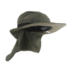 Boonie Fishing Boating Hiking Outdoor Snap Hat Brim Ear Neck Cover Sun Flap Cap