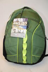 Swiss Gear NEW Sun Green Canvas 16 Inch Laptop Travel Business Backpack Bag
