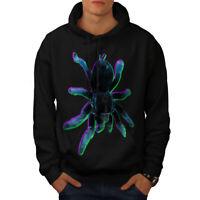 Wellcoda Spider Tarantula Art Mens Hoodie, Scary Casual Hooded Sweatshirt