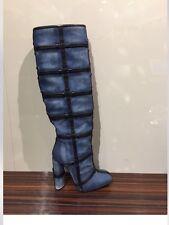 TOM FORD $2690.00 NIB Designer Blue Denim   Shoes Boots   S E 35 US  5 +  Bag