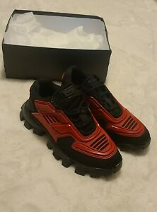 Prada, Men Shoes 11, Cloudbust Thunder, Red, New
