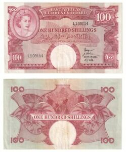 East Africa 100 Shillings Banknote (1958-60) P.40 - VF/VF+.