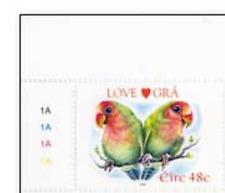 IRL0501 Birds - parrots 1 STAMP MNH IRELAND 2005