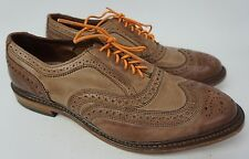 Allen Edmonds Neumok Oxford Light Brown Leather Wingtip Mens Shoes Size 9 EEE 3E