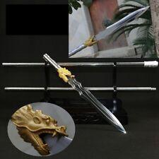 Steel Handle High manganese steel Spearhead spear pike lance Sword Dragon #037
