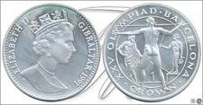 Gibraltar    KM00069a PROOF 1 Crown 1991 / Olimpiada Barcelona 92 / 28,28 gr. p