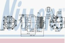 Nissens Compressor 89117 Fit with VW Sharan
