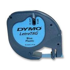 Dymo 12mm LETRATAG etiqueta de cinta ácido Plástico Azul 4m