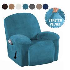 4tlg. Samt Super Soft Sofabezug Schonbezug Stretch Relaxsesselbezug Sofa Schutz